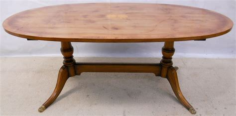 Regency Style Large Oval Yew Coffee Table By Rackstraw Sold Yew Coffee Tables