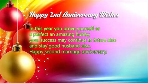 Wedding Wishes Second Marriage by 2nd Marriage Anniversary Wishes For Husband Wishes4lover
