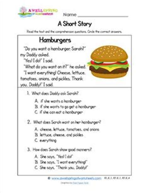 stories for kindergarten kindergarten stories hamburgers a wellspring