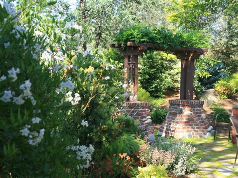 backyard arbor backyard brick and stone arbor hgtv