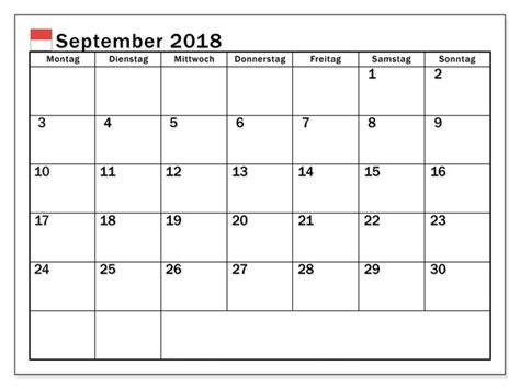 Kalender 2018 Excel Zum Ausdrucken Kalender September 2018 Zum Ausdrucken Pdf Excel Word