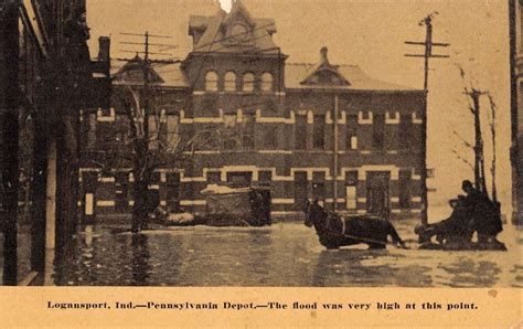 logansport indiana pennsylvania depot flood antique