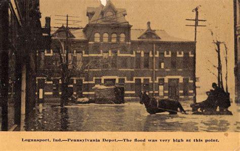 logansport indiana pennsylvania depot flood antique