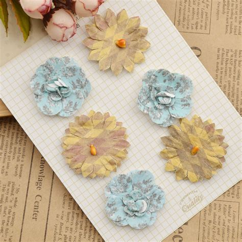 Handmade Paper Scrapbook - colourful handmade paper flowers for diy scrapbooking