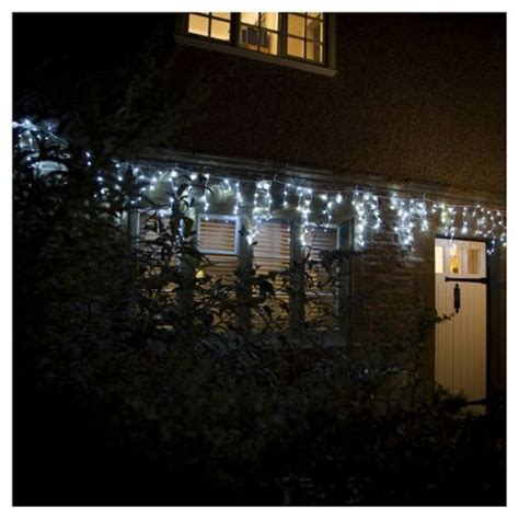 Tesco Outdoor Lights Buy 240 Multifunction Icicle Led Lights White