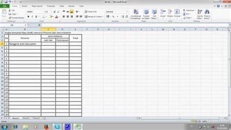 cara membuat header tabel di excel 2010 cara membuat tabel dalam excel 2010 youtube
