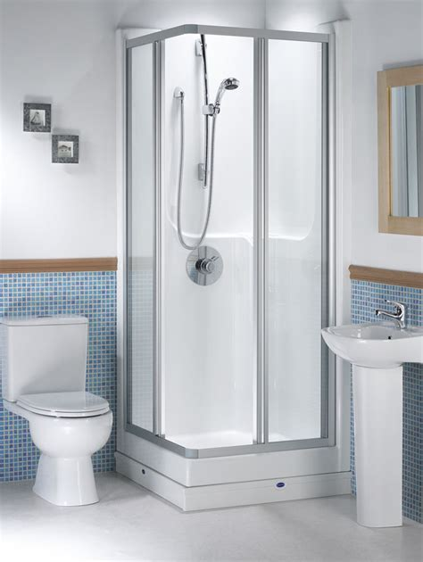corner shower small bathroom shower pods douglas james uk seamless 800 corner shower