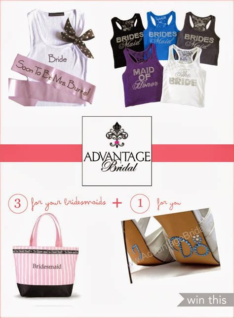Bride Giveaways - personalized bridal party gifts giveaway belle the magazine