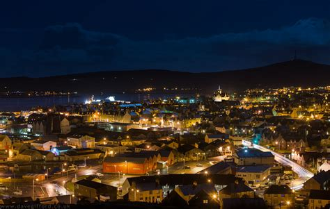 How To Do Landscape Lighting - lerwick at night david gifford photography