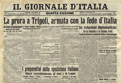 testate giornalistiche inglesi canale di sicilia tripoli bel suol d 100 anni dopo