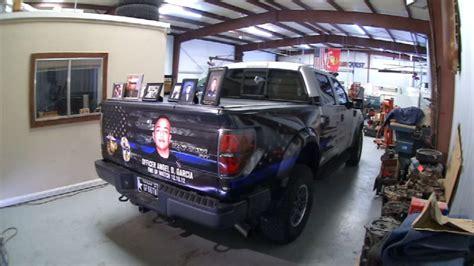 truck el paso el paso officer s truck becomes memorial for fallen heroes