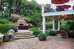 Patios For Small Backyards Custom Stone Work Built In Spa Fireplace Surrounds