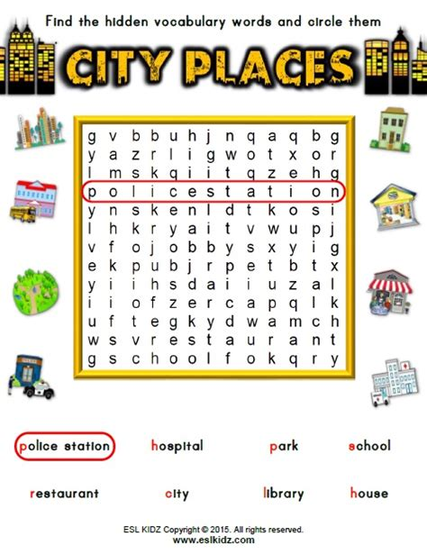 places worksheet free worksheets 187 places at school worksheet free math worksheets for kidergarten and