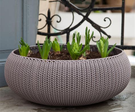 Keter Planter Box by Keter Cozies Large Knit Texture 21 Quot Planter
