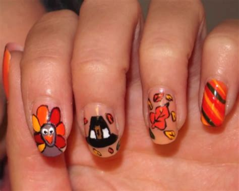 thanksgiving nail art feather magazine and now we bring you thanksgiving nails
