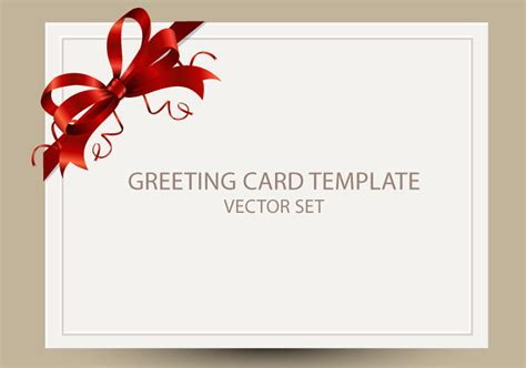 freebie greeting card templates  red bow ai eps psd png templateflip