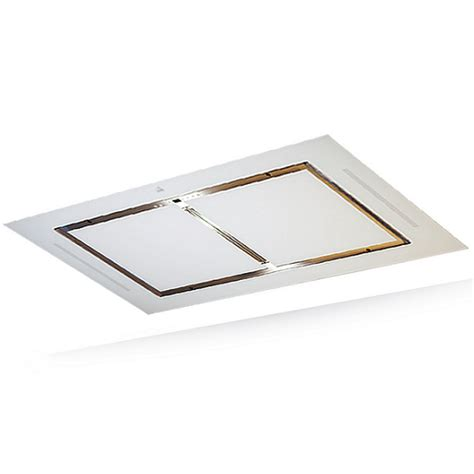 Roblin Hotte Plafond by Hotte De Plafond Confidence 100cm Sans Moteur Verre Blanc