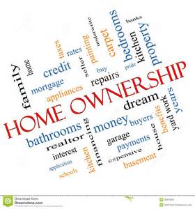 home ownership home ownership word cloud concept angled royalty free