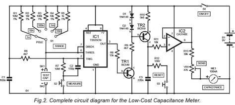 capacitance meter schematic diagram low cost capacitance meter techshop bangladesh techshopbd