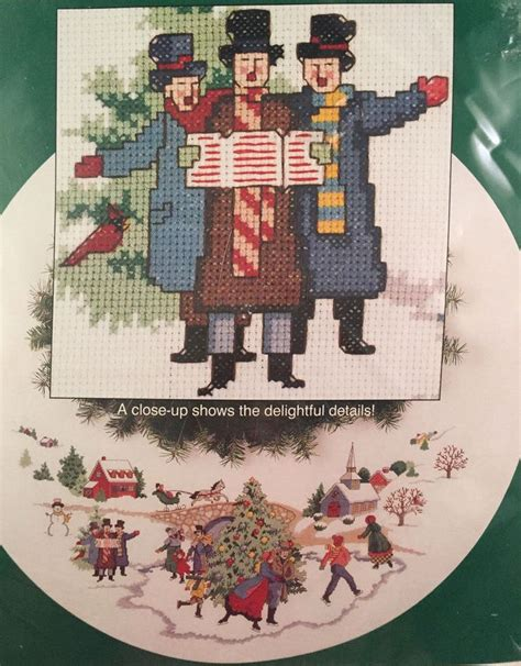 sunset 18317 counted cross stitch kit dickens village tree