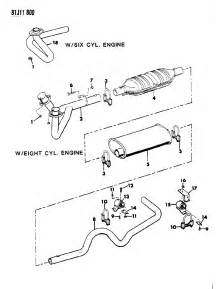 Jeep Exhaust System Diagram Exhaust System For 1984 Jeep Grand Wagoneer Mopar Parts