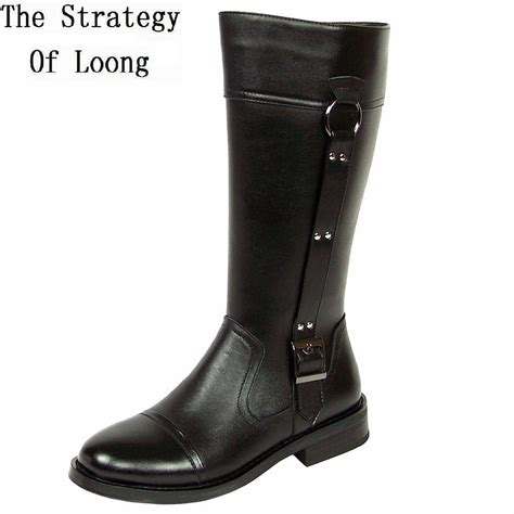 knee high motorcycle boots aliexpress com buy genuine leather men long boots 2017