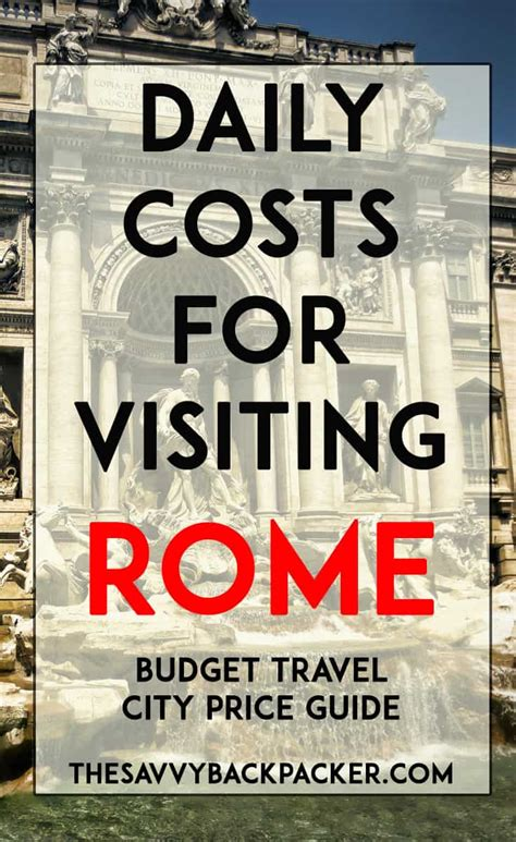 italy best price daily costs to visit rome city price guide