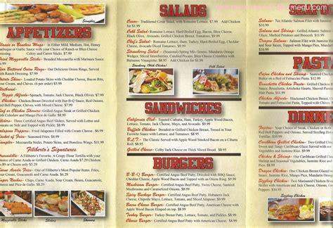 menu cuisine az menu of filiberto s sports grill restaurant