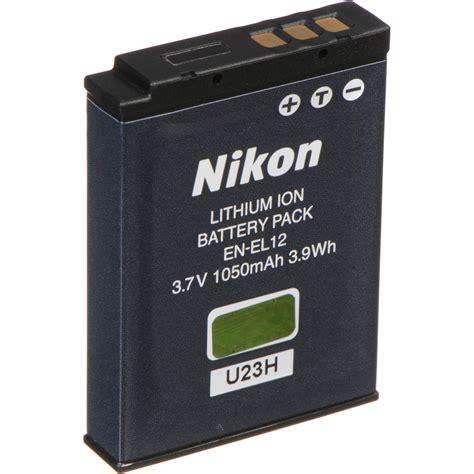 nikon en el12 rechargeable lithium ion battery 25780 b h photo