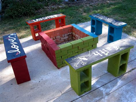 cynder block bench cinder block bench for your home outdoor s beauty