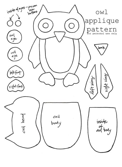 construction paper owl template 61 best images about owl patterns on free