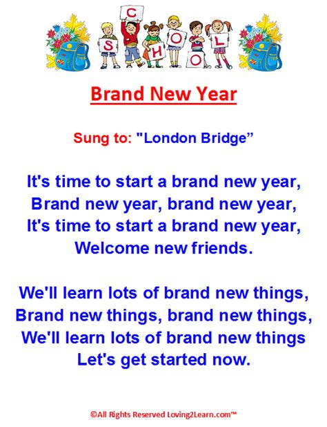 new year song for kindergarten activities fall brand new year