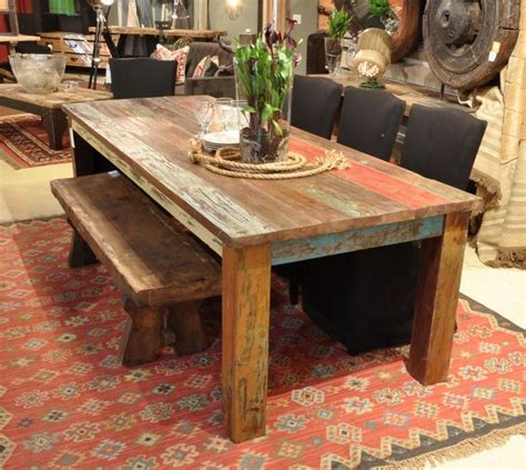 Donny Osmond Home Decor by Vintage Multicolor 107 Quot Dining Table Rustic Dining
