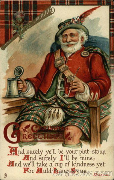 scottish for happy new year greetings with scottish santa santa claus i