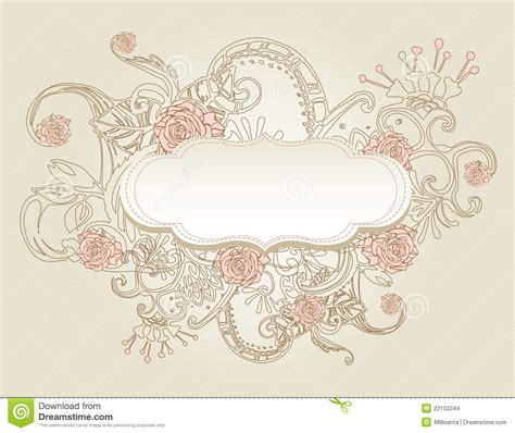 vintage style background with flowers stock images image