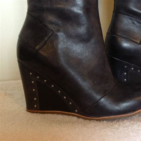 38 ugg boots nwot quot ugg quot leather wedge boots from