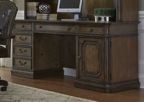 Liberty Help Desk by Amelia Antique Toffee Jr Executive Credenza From Liberty