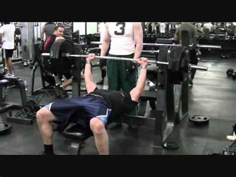 405 pound bench press 405 lbs bench press the retarded way youtube