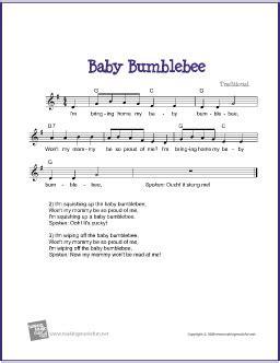 baby bumblebee free sheet lead sheet