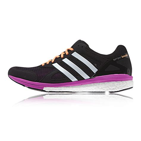purple and black sneakers adidas adizero tempo 7 womens black purple lightweight