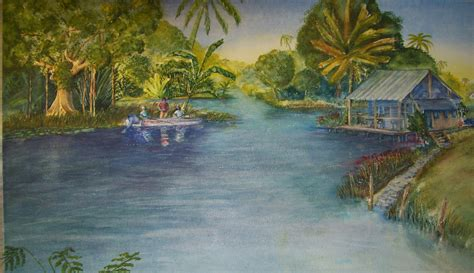 R D Painting by Finishing My Watercolor Painting Fishing The