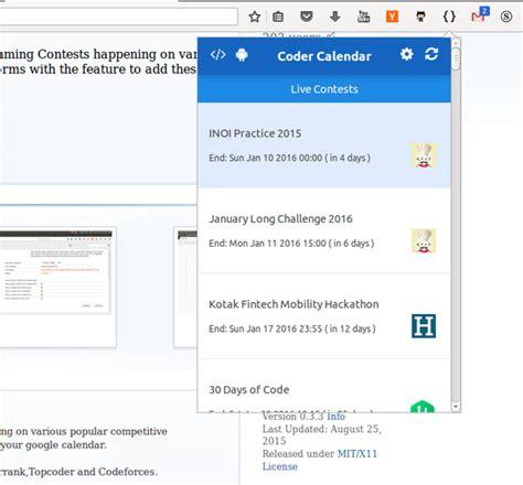 Calendar Extension Firefox Coder S Calendar Add Ons For Firefox