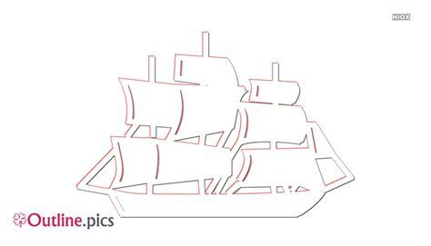 boat clipart outline boat clip art outline free outline pics