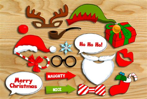 printable christmas themed photo booth props free printable christmas photo booth props