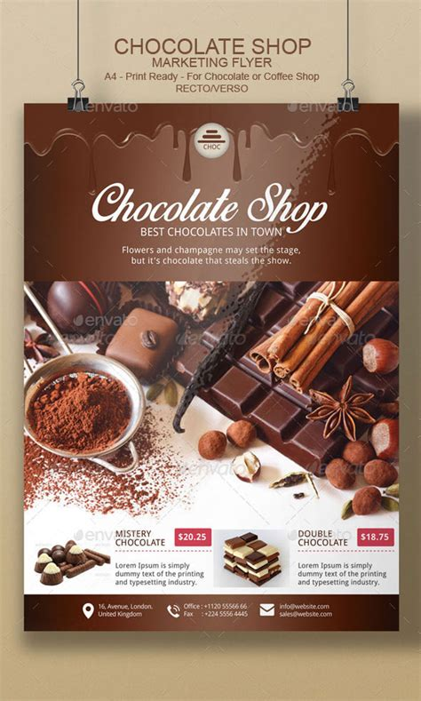 chocolate flyer template  blogankids graphicriver