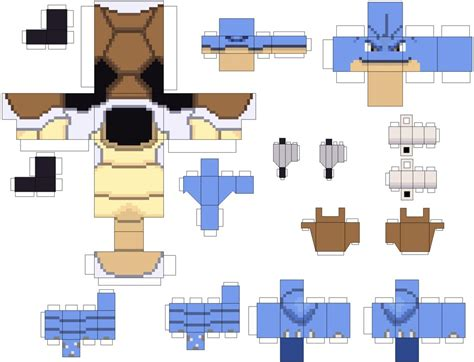 How To Make Papercraft Models - pokecube origins blastoise by brunomikkrh on deviantart