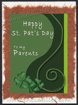 Handmade Greeting Cards For Parents Day - st s day greeting card parents card curly