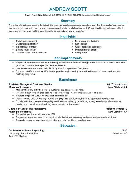 Assistant Customer Service Manager Sle Resume by Best Restaurant Assistant Manager Resume Exle Livecareer