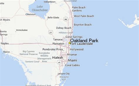oakland florida map oakland park weather station record historical weather