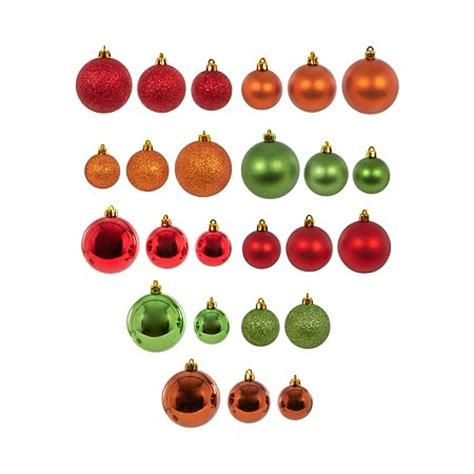 asda christmas baubles mixed shatterproof baubles 46 pack tree decorations asda direct